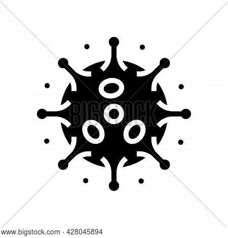 Antibodies Attacking Virus Glyph Icon Vector. Antibodies Attacking Virus Sign. Isolated Contour Symb