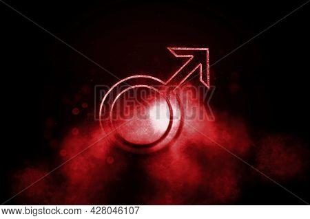 Symbol Of Mars, Mars Sign, Astrology Mars Planet, Blue Symbol