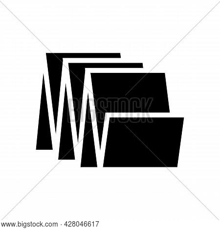 Floor Tiles Glyph Icon Vector. Floor Tiles Sign. Isolated Contour Symbol Black Illustration