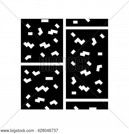 Cork Floor Glyph Icon Vector. Cork Floor Sign. Isolated Contour Symbol Black Illustration