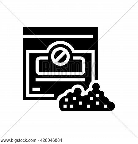 Nicotine-free Tobacco Glyph Icon Vector. Nicotine-free Tobacco Sign. Isolated Contour Symbol Black I