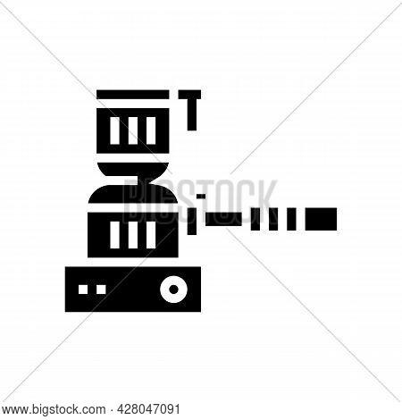 Hookah Coal Burner Glyph Icon Vector. Hookah Coal Burner Sign. Isolated Contour Symbol Black Illustr