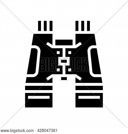 Hiking Binoculars Glyph Icon Vector. Hiking Binoculars Sign. Isolated Contour Symbol Black Illustrat
