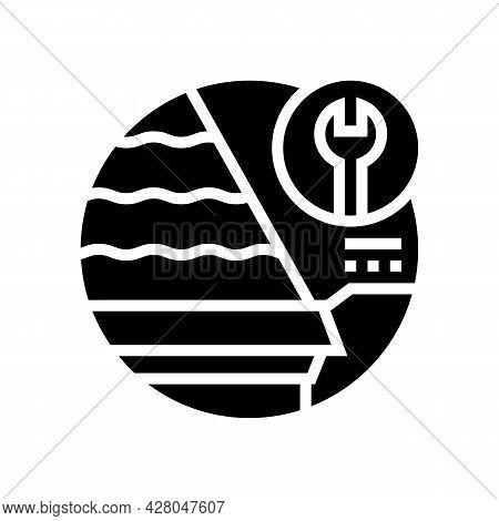 Starter Strips Glyph Icon Vector. Starter Strips Sign. Isolated Contour Symbol Black Illustration