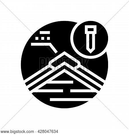 Hip And Ridge Caps Glyph Icon Vector. Hip And Ridge Caps Sign. Isolated Contour Symbol Black Illustr