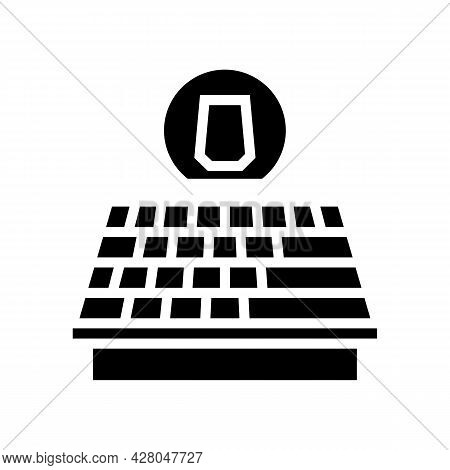 Asphalt Shingles Roof Glyph Icon Vector. Asphalt Shingles Roof Sign. Isolated Contour Symbol Black I