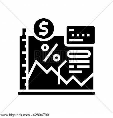 Economy School Lesson Glyph Icon Vector. Economy School Lesson Sign. Isolated Contour Symbol Black I