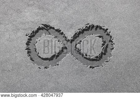 Infinity Symbol, Eternal, Endless, Infinity Sign, Rugged, Silver Background
