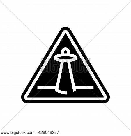 Alien Abduction Warning Glyph Icon Vector. Alien Abduction Warning Sign. Isolated Contour Symbol Bla