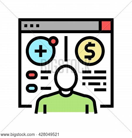 Opening Customer Accounts Color Icon Vector. Opening Customer Accounts Sign. Isolated Symbol Illustr
