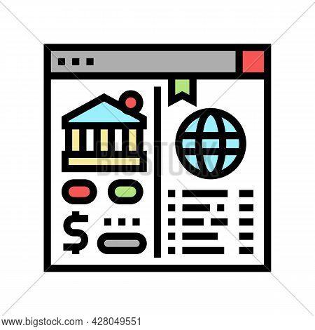Opening Correspondent Accounts Color Icon Vector. Opening Correspondent Accounts Sign. Isolated Symb