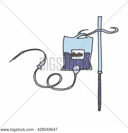 Medicine Dropper Miniature Medicine. Doodle Image On Stock