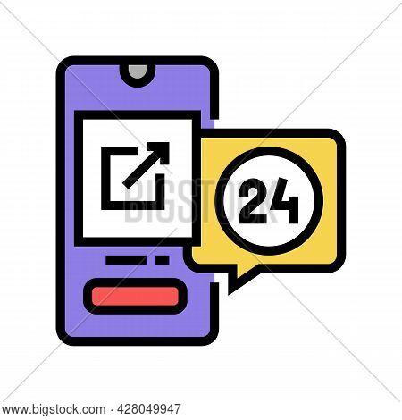Storaging Digital File And Download Ephemeral Color Icon Vector. Storaging Digital File And Download