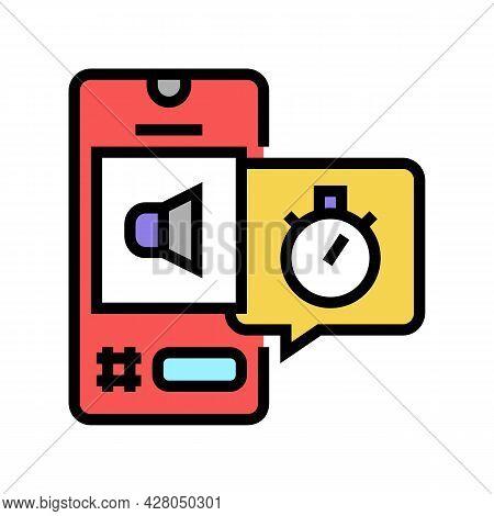 Digital Marketing Ephemeral Color Icon Vector. Digital Marketing Ephemeral Sign. Isolated Symbol Ill
