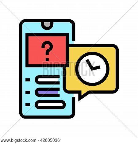 Quiz Ephemeral Color Icon Vector. Quiz Ephemeral Sign. Isolated Symbol Illustration