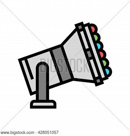 Multicolor Lamp Spotlight Lighting Color Icon Vector. Multicolor Lamp Spotlight Lighting Sign. Isola
