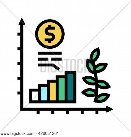 Economics Growth Color Icon Vector. Economics Growth Sign. Isolated Symbol Illustration