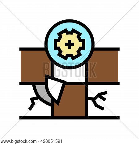 Tile Repair Color Icon Vector. Tile Repair Sign. Isolated Symbol Illustration