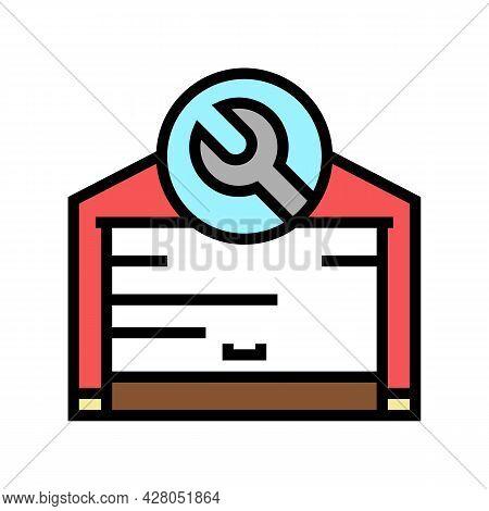 Garage Door Repair Color Icon Vector. Garage Door Repair Sign. Isolated Symbol Illustration