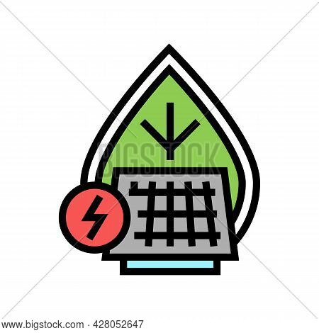 Energy Saving Color Icon Vector. Energy Saving Sign. Isolated Symbol Illustration