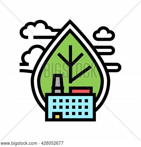 Air Emissions And Ambient Air Quality Color Icon Vector. Air Emissions And Ambient Air Quality Sign.