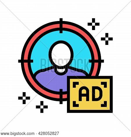 Sharp Targeting Color Icon Vector. Sharp Targeting Sign. Isolated Symbol Illustration