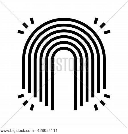 Rainbow Boho Line Icon Vector. Rainbow Boho Sign. Isolated Contour Symbol Black Illustration