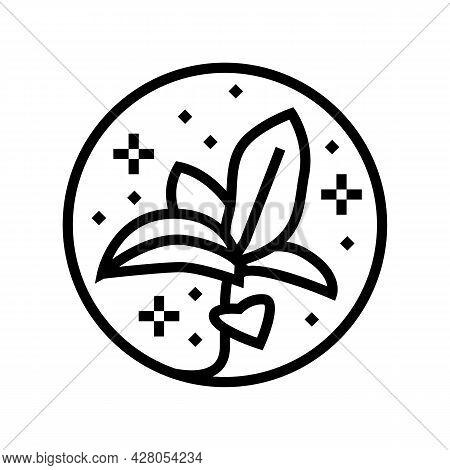 Flower Boho Line Icon Vector. Flower Boho Sign. Isolated Contour Symbol Black Illustration