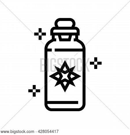 Potion Boho Line Icon Vector. Potion Boho Sign. Isolated Contour Symbol Black Illustration