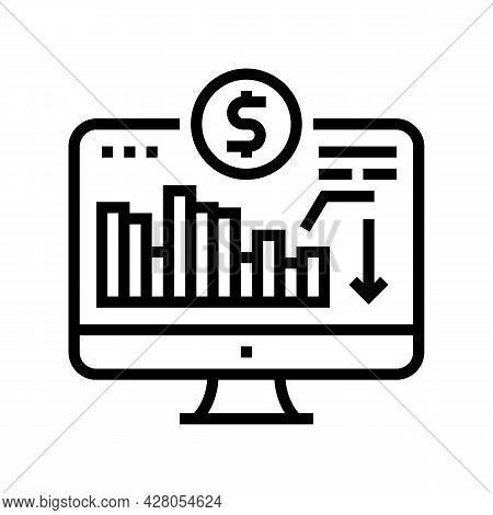 Maintaining Minimum Required Account Balance Line Icon Vector. Maintaining Minimum Required Account