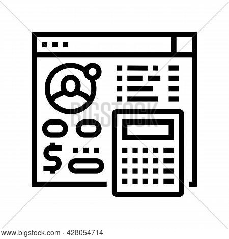 Settlements On Behalf Of Clients Line Icon Vector. Settlements On Behalf Of Clients Sign. Isolated C