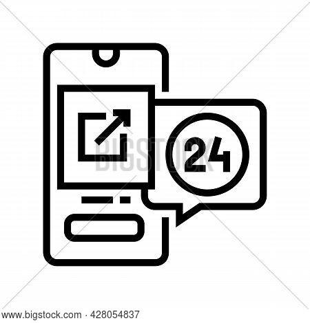 Storaging Digital File And Download Ephemeral Line Icon Vector. Storaging Digital File And Download