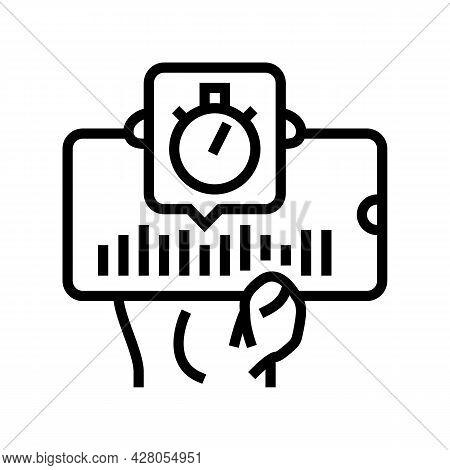 Music Ephemeral Line Icon Vector. Music Ephemeral Sign. Isolated Contour Symbol Black Illustration