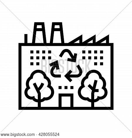 Environmental Recycling Line Icon Vector. Environmental Recycling Sign. Isolated Contour Symbol Blac
