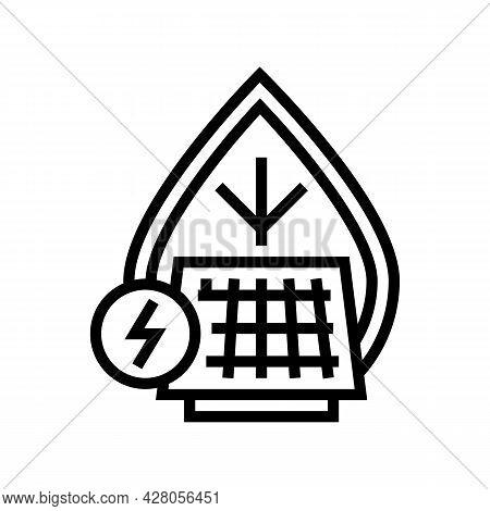 Energy Saving Line Icon Vector. Energy Saving Sign. Isolated Contour Symbol Black Illustration