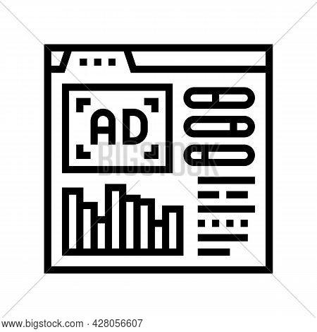 Google Analytics Integration Line Icon Vector. Google Analytics Integration Sign. Isolated Contour S