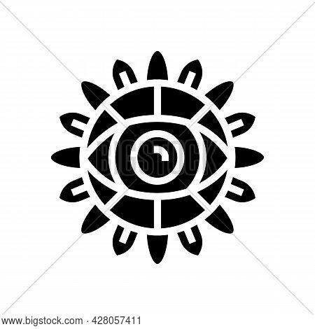 Eye Boho Glyph Icon Vector. Eye Boho Sign. Isolated Contour Symbol Black Illustration