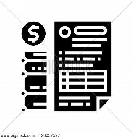 Providing Information On Cash Flow Glyph Icon Vector. Providing Information On Cash Flow Sign. Isola