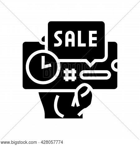 Sale Ephemeral Glyph Icon Vector. Sale Ephemeral Sign. Isolated Contour Symbol Black Illustration