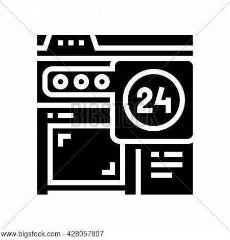 Image Web Site Ephemeral Glyph Icon Vector. Image Web Site Ephemeral Sign. Isolated Contour Symbol B