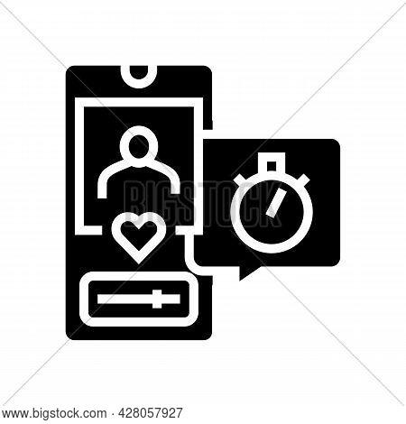 Friend Like Ephemeral Glyph Icon Vector. Friend Like Ephemeral Sign. Isolated Contour Symbol Black I