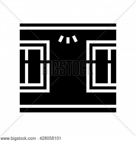 Windows Top Lighting Glyph Icon Vector. Windows Top Lighting Sign. Isolated Contour Symbol Black Ill