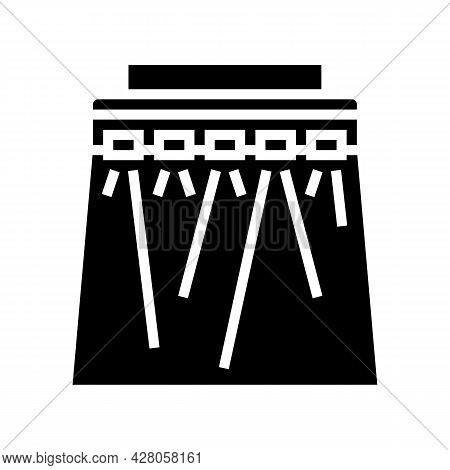Concert Lighting Glyph Icon Vector. Concert Lighting Sign. Isolated Contour Symbol Black Illustratio