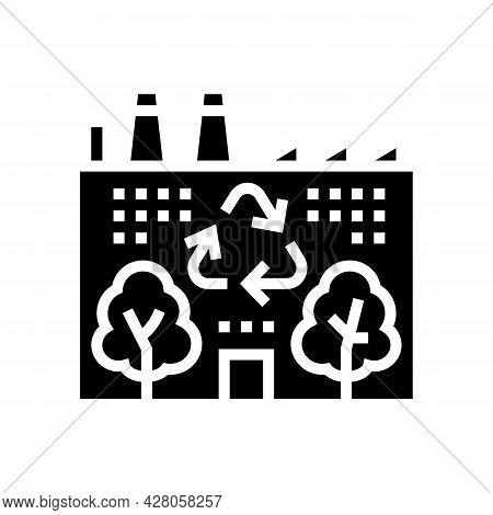 Environmental Recycling Glyph Icon Vector. Environmental Recycling Sign. Isolated Contour Symbol Bla