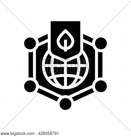 Environmental Protection Glyph Icon Vector. Environmental Protection Sign. Isolated Contour Symbol B