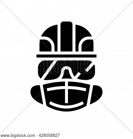 Individual Protection Means Glyph Icon Vector. Individual Protection Means Sign. Isolated Contour Sy