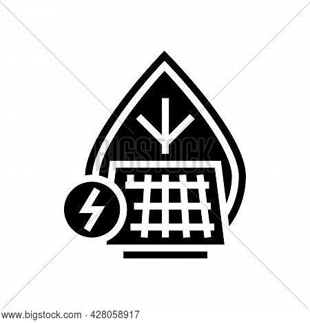 Energy Saving Glyph Icon Vector. Energy Saving Sign. Isolated Contour Symbol Black Illustration