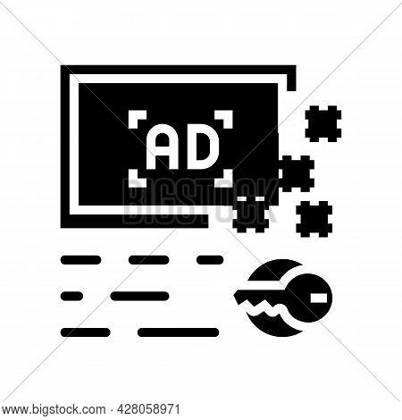 Advertising Keys Glyph Icon Vector. Advertising Keys Sign. Isolated Contour Symbol Black Illustratio