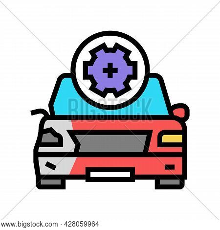 Body Damage Repair Color Icon Vector. Body Damage Repair Sign. Isolated Symbol Illustration