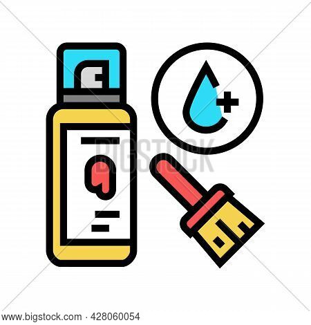 Clear Coating Color Icon Vector. Clear Coating Sign. Isolated Symbol Illustration